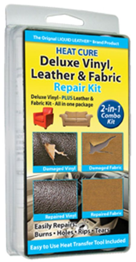 leather and vinyl repair kit with fabric and upholstery repair kit