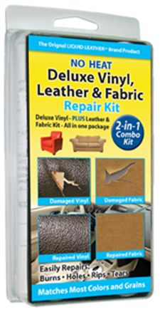2-in-1 Combo Special:No Heat Leather, Vinyl and Fabric repair kits (Item 30-122)