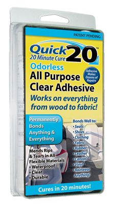 Quick 20 Odorless All Purpose Clear Adhesive